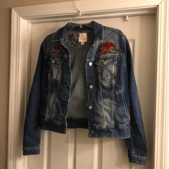 de378f492c3 LuLaRoe Jackets & Blazers - LuLaRoe Harvey Jacket with floral embroidery
